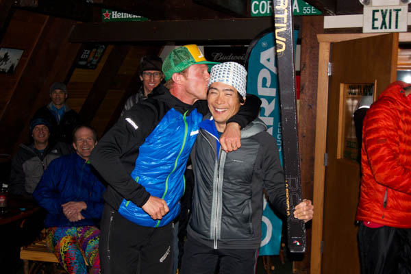 The Happy Winner of the La Sportiva RSR Skis